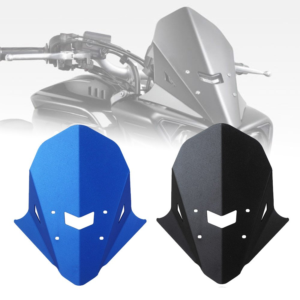 Fatexpress motorcycle aluminum upper headlight protector top mount cover windscreen screen for 2016 2019 yamaha fz mt 10 fz 10 mt 10 fz10 mt10 2017 2018