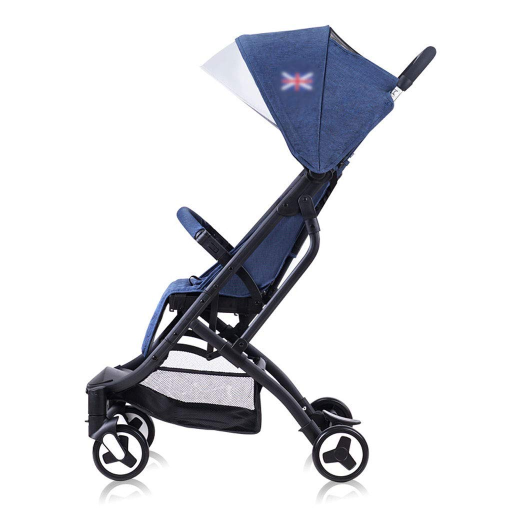 YRYRGXQ The Stroller is Lightly Foldable and Aluminum Alloy Can Be Adjusted to Prevent Wind and Rain, Trolley Pushchair Type is Suitable for Travel Cabins.