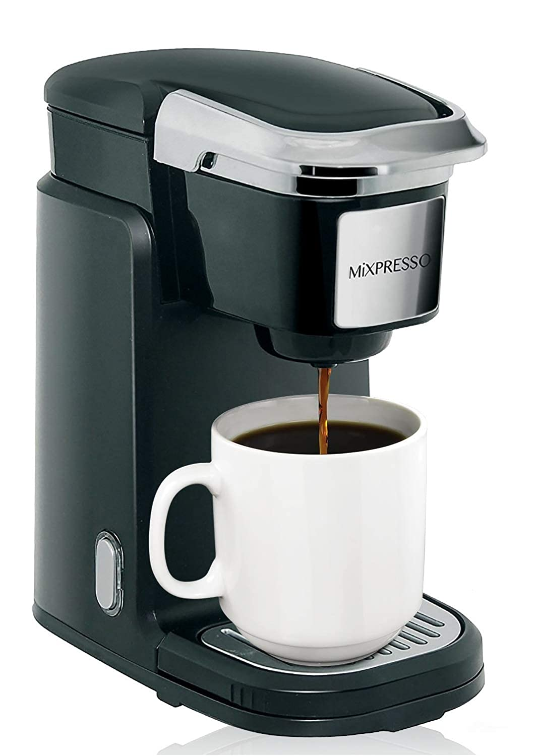 Mixpresso Single Cup Coffee Maker | Personal, Single Serve Coffee Brewer Machine, Compatible With K-Cups | Quick Brew Technology, Programmable Features, One Touch Function Mixpresso Coffee