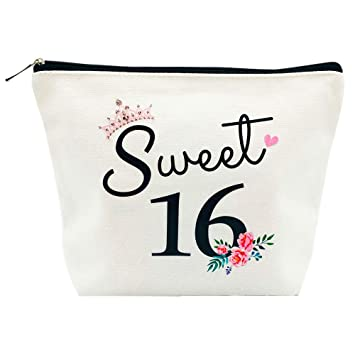 Amazon Com Sweet 16 Gifts For Girls 16th Birthday Gifts Ideas 16 Year Old Girls Sweet Sixteen Gifts For Teen Girls Cute Makeup Bag Beauty