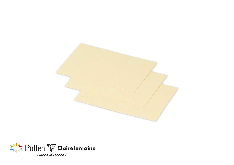 Paquete de 25 Tarjetas 70x95mm Pollen Vanilla 210gr Clairefontaine 11276C