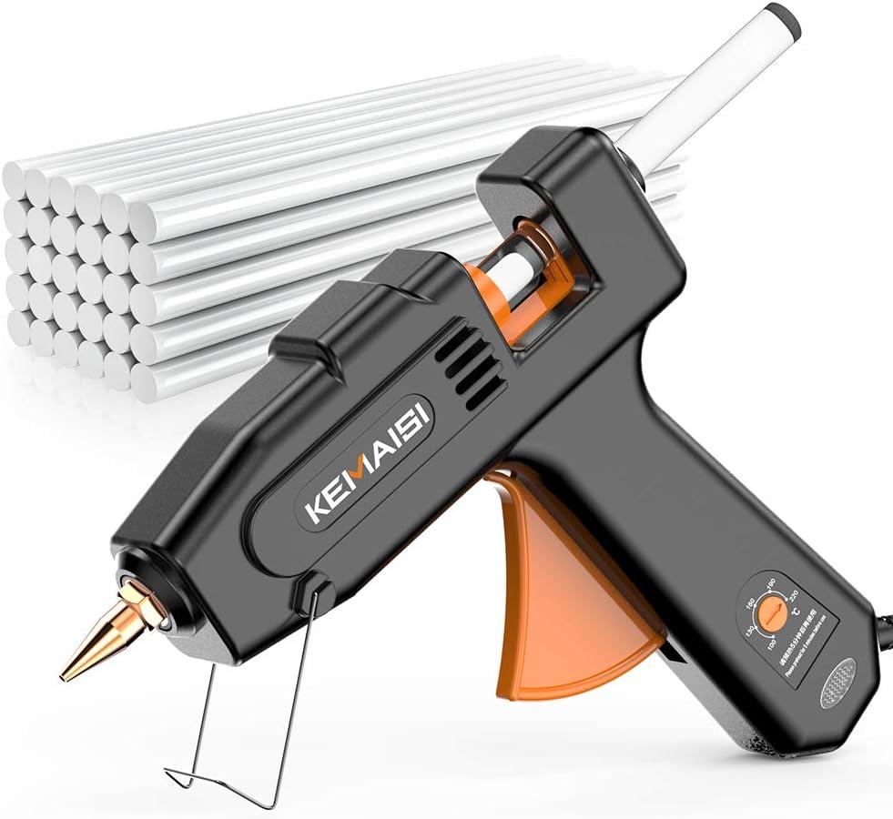 KEMAISI 100Watts Hot Glue Gun, Heavy Duty Glue Gun Large Professional Glue Gun, Hot Glue Gun with 30PCS Highly Viscous Glue Sticks, Industrial Big Glue Gun for Crafts: Home Improvement