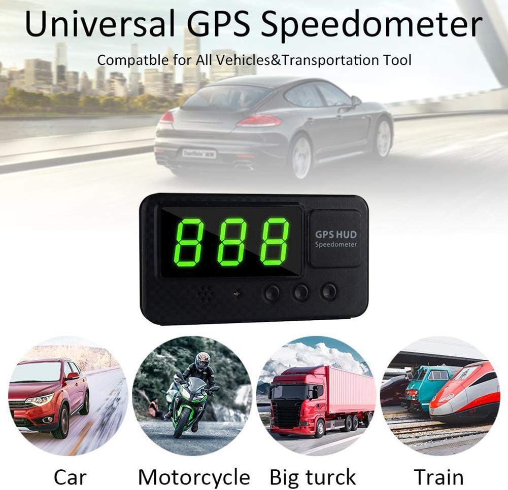 Mit GPS f/ür Fahrrad Motorrad Auto KM//h MPH Geschwindigkeitsanzeige funny feng Auto Head Up Display Universeller digitaler Autotachometer HUD Schwarz Tachometer