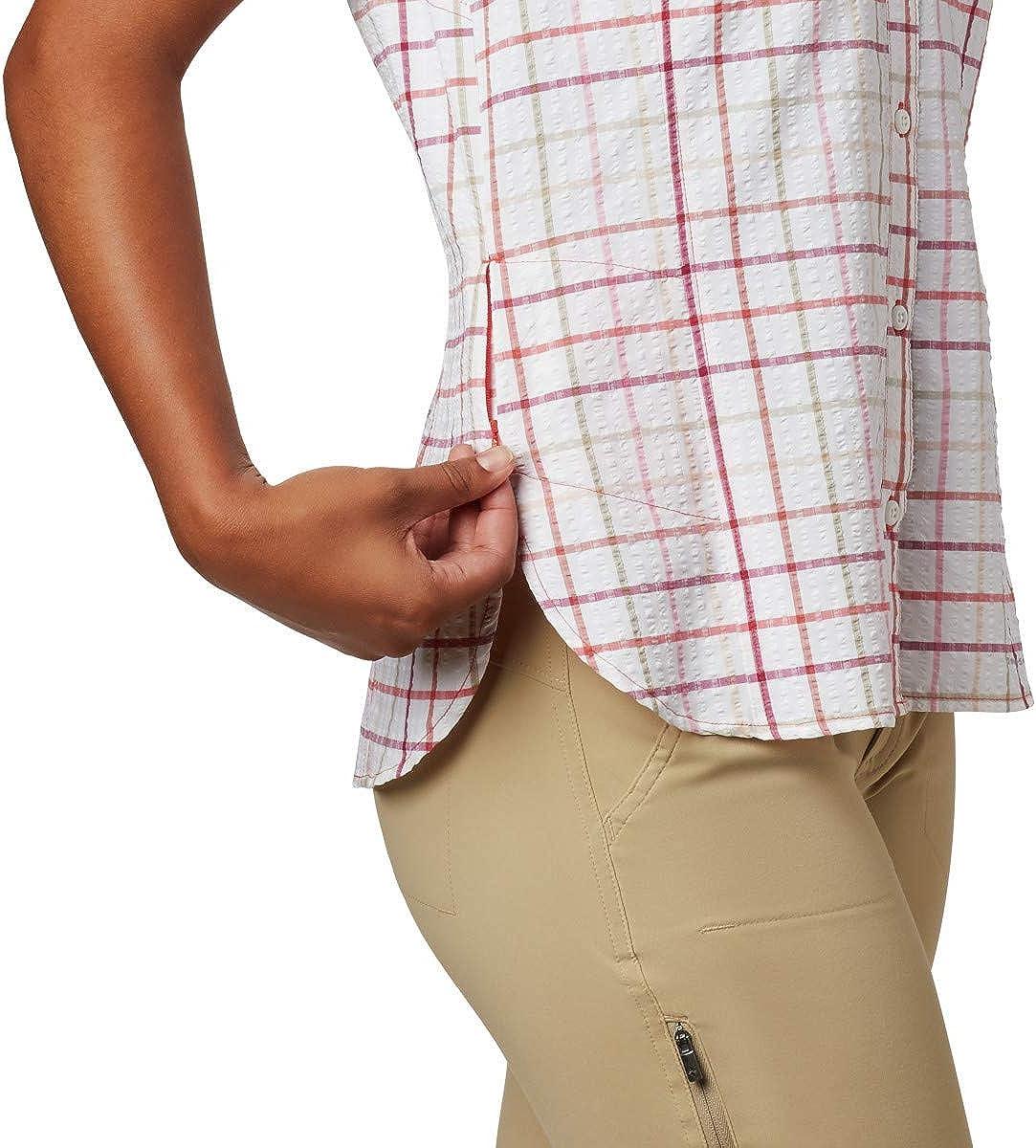 Moisture Wicking Columbia Womens Silver Ridge Novelty Short Sleeve Shirt