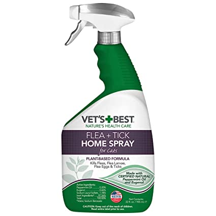 Vet's Best Flea and Tick Home Spray for Cats | Flea Treatment for Cats and Home