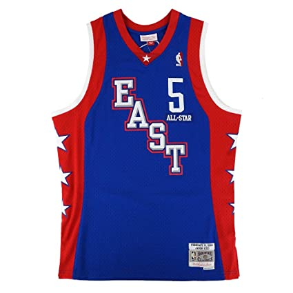 4a718b2024a Image Unavailable. Image not available for. Color  Mitchell   Ness Jason  Kidd 2004 NBA All Star East Swingman Blue Jersey Men s