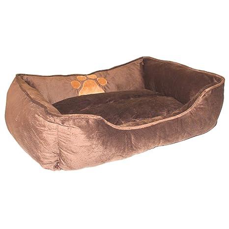 AIICIOO® Cama grande para perro para invierno capa para mantener caliente mascota sofá con borde cómodo para un mejor descanso antideslizante parte inferior ...