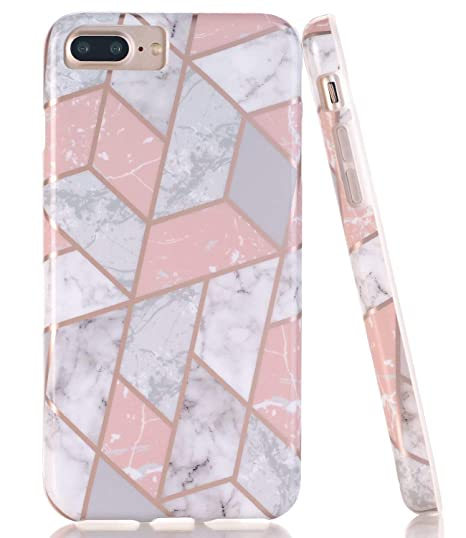 iphone 8 marble case rose gold