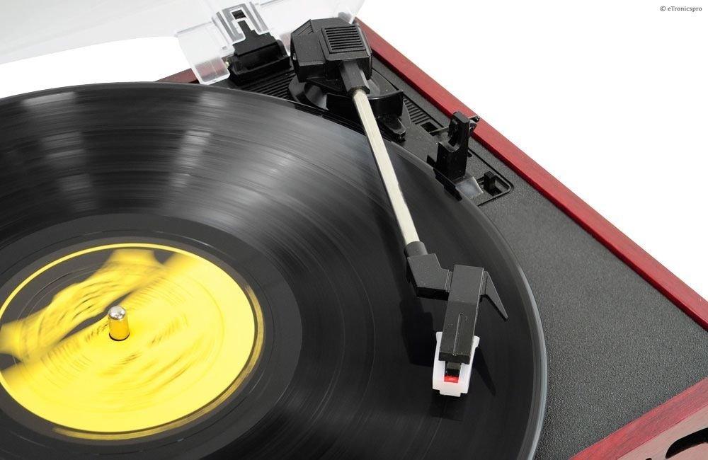 Amazon.com: 3-speed 33/45/78 Caso de madera Turntable Record ...