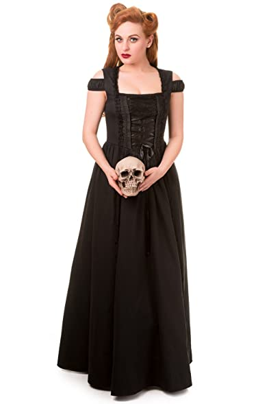Banned Daysleeper Black Gothic Maxi Corset Plus Size Alternative ...