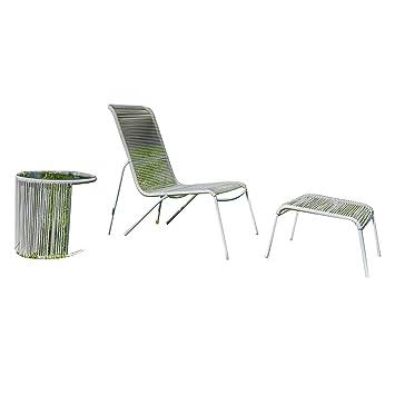 Tomasucci Panarea Wohnzimmer Gartentisch Aus Aluminium Und Kordel Von PVC  Garten Außen