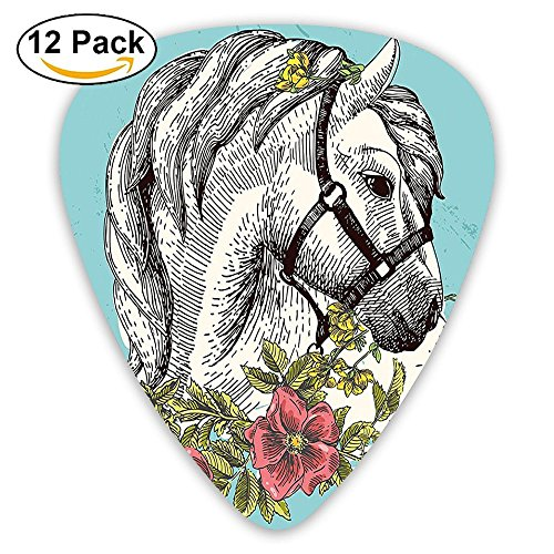 (Newfood Ss Boho Horse Opium Popy Wreath Equestrian Bohemian Guitar Picks 12/Pack Set)