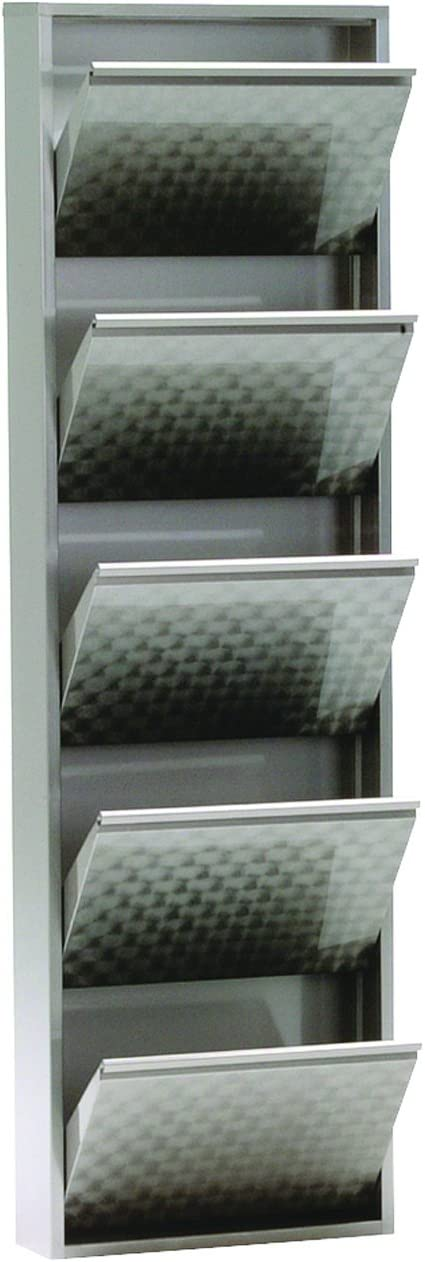grau simple..*M* 4001070442376 Schuhklappschrank 50 x 15 x 171 cm metall