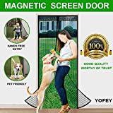 #6: Magnetic Screen Door Black with Heavy Duty Mesh Curtain and Full Frame Velcro Fits Door Size up to 34-82 inch