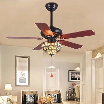 tropicalfan Vintage ventilador de techo con una luz tiffany Cover ...