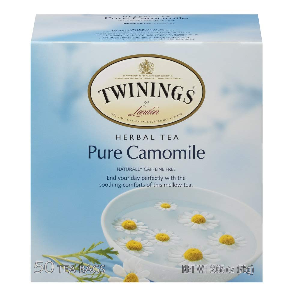 Twinings Pure Camomile Tea 50 count Tea Bags (Pack of 6)