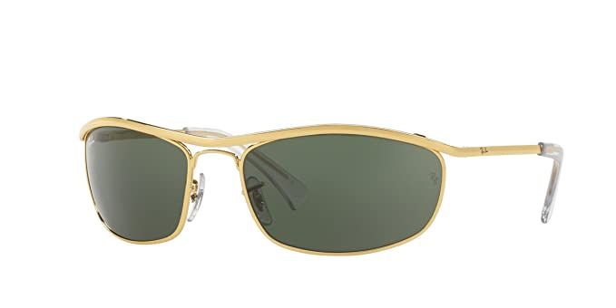 a604846329ab14 Amazon.com  Ray-Ban Sunglasses - RB3119 Olympian   Frame  Gold Lens ...