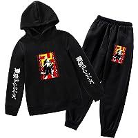 Niños 2 Piezas Jogging Conjunto de Chándal Informal Niñas Anime Tokyo Revengers Sudadera y Casual Pantalón Traje…