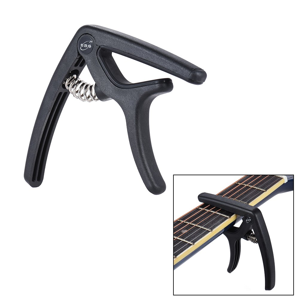 ammoon Eno EGC3 Ligero Cambio R/ápido Capo Abrazadera De Acero De Pl/ástico para Acoustic Classical Folk Guitarra El/éctrica Bajo