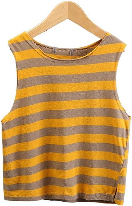 Camisetas sin mangas para niños Verano, rayas, algodón, niños ...