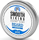 Beard Conditioner for Men - Natural Wax Conditioning Softener that Soothes Itching - Use With Beard Oil and Balm for Best Results and Growth - Argan Oil, Shea Butter and Beeswax - 2 OZ - Smooth Viking