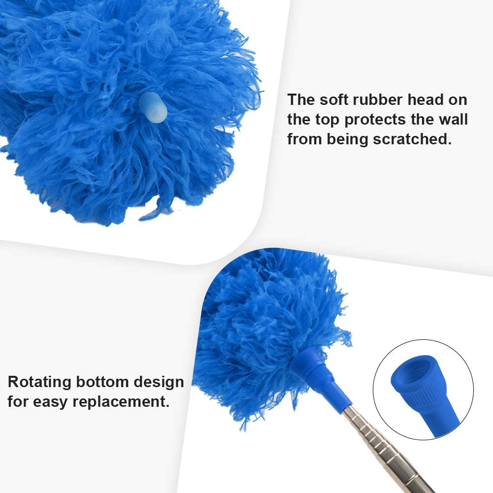 DELUX Duster Replacement Head Refill for Poles 15 Blue