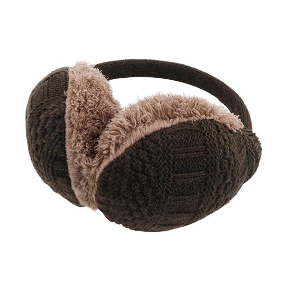 Dizoe Plush Earmuffs Unisex Cable Knit Earwarmer Headband Ear Protector Adjustable
