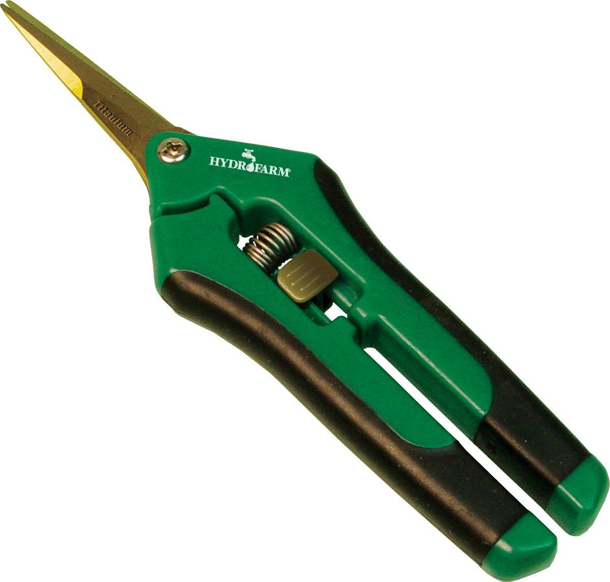 Hydrofarm HGPP400T Titanium Precision Pruner, Green by Hydrofarm