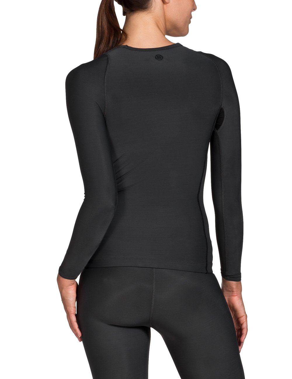 Skins Women's Ry400 Recovery Long Sleeve Top, Black, SmallH by Skins (Image #2)