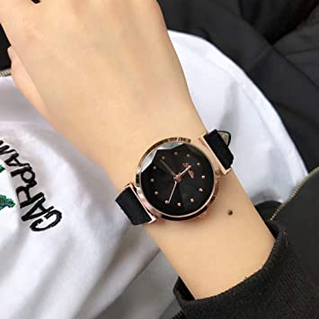 NICEWATCH Reloj Mujer 2018 High-End Waterproof Reloj Moda, Cuero Real, Colorful Quartz