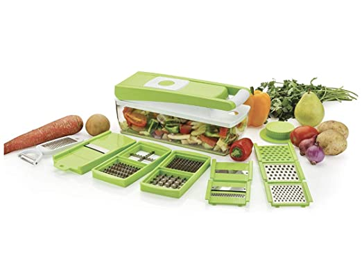 Buy JD Brand Vegetable & Fruit Chipser with 11 Blades + 1 Peeler Inside, Vegetable Chopper, Vegetable Slicer, Fruit Cutter, Fruit Slicer, (Chopper, Green) Online at Low Prices in India - Amazon.in