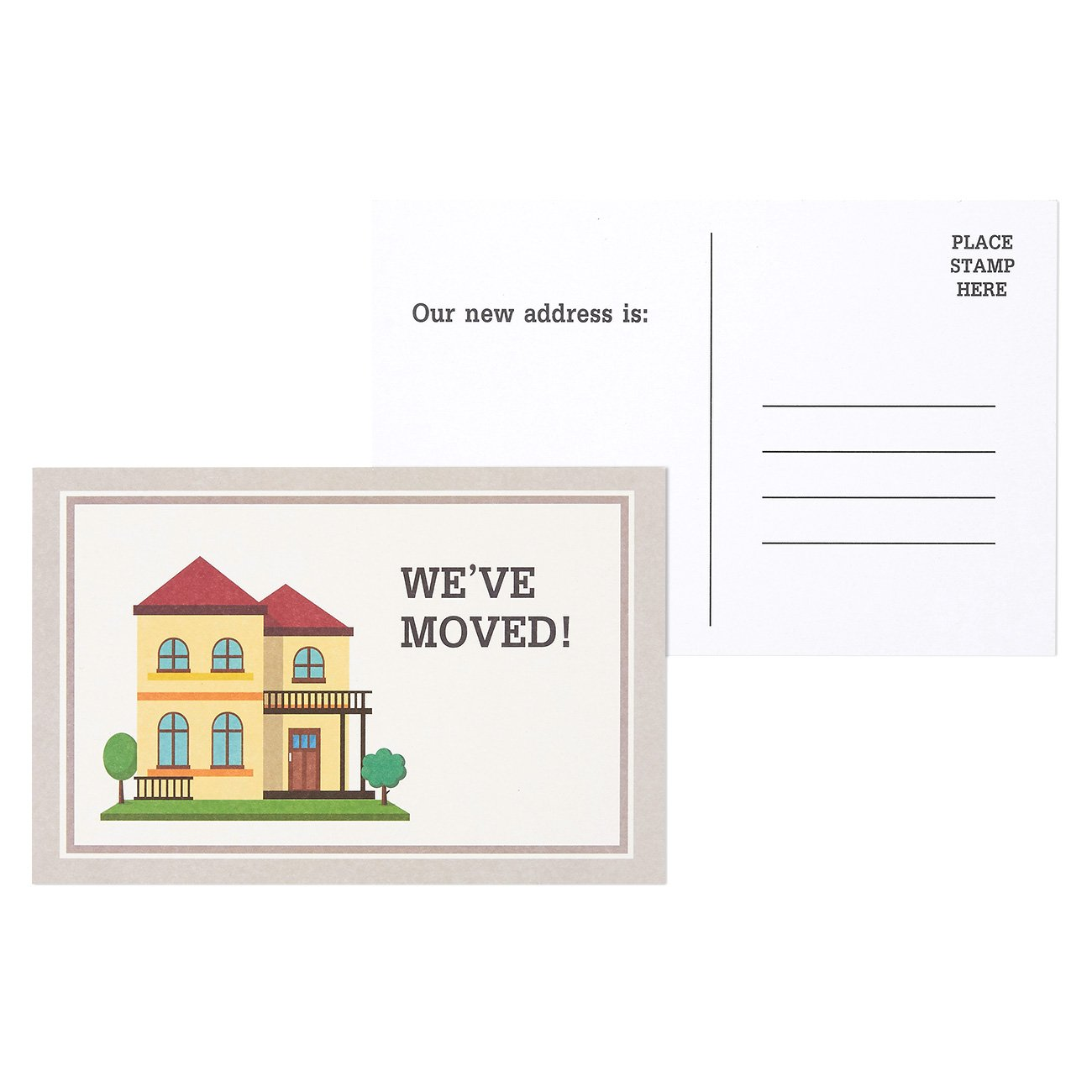50 Pack We Ve Moved Postcards For Moving Announcements Fill In The