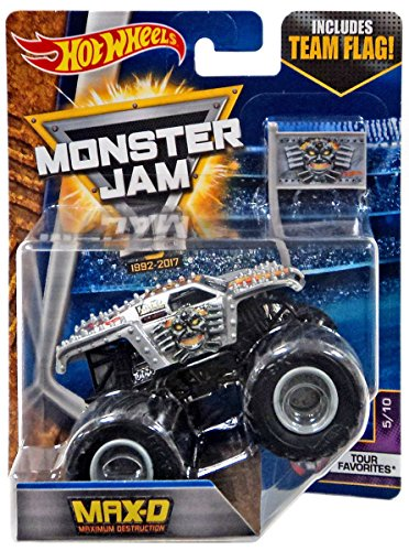 Hot Wheels Monster Jam 2017 Tour Favorites Max-D Maximum Des