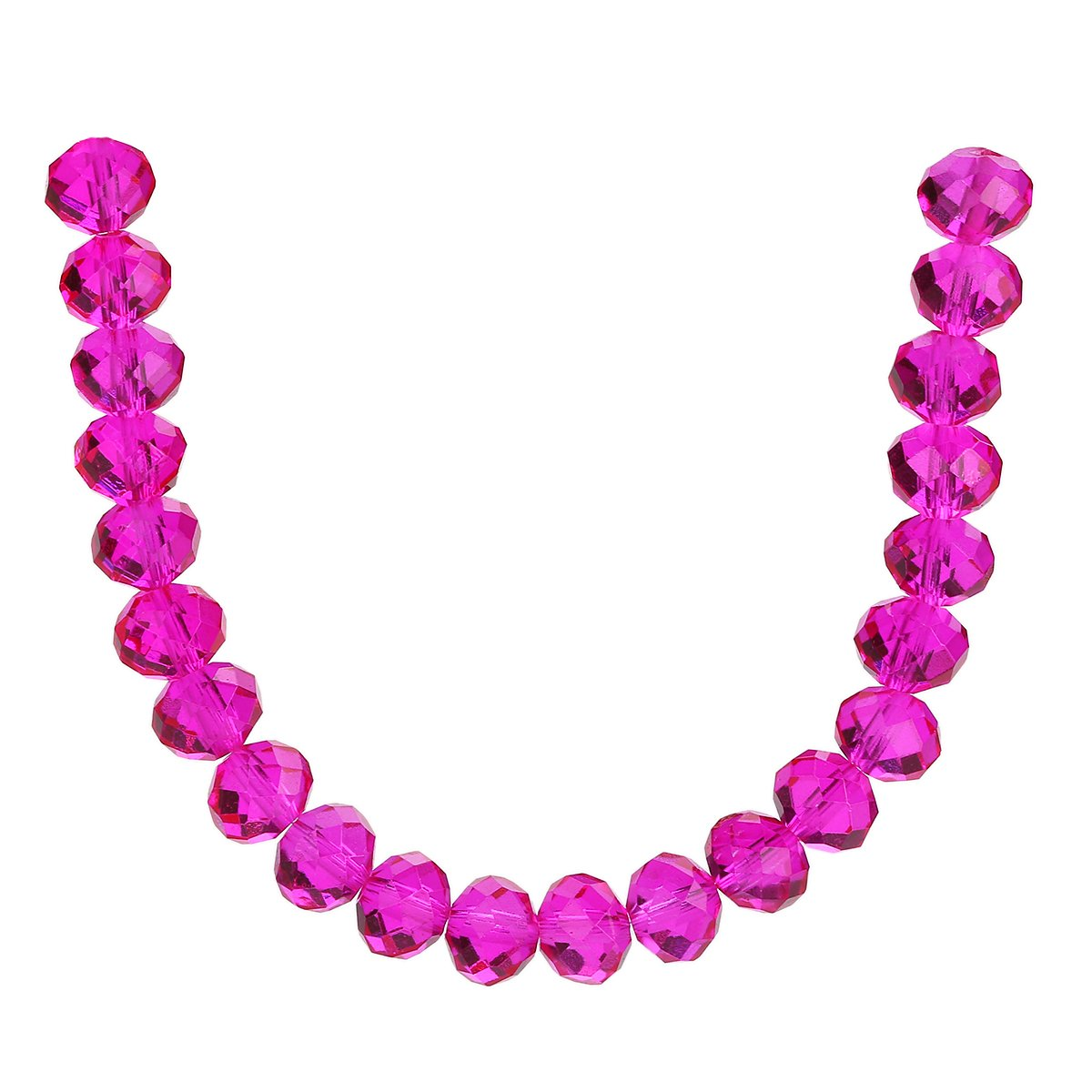 66c09bf404484 500Pcs 3mm 4mm 6mm 5040# Faceted Loose Rondelle Crystal Glass Beads Spacer  Lot Colors U Pick (6mm, Rose Red)