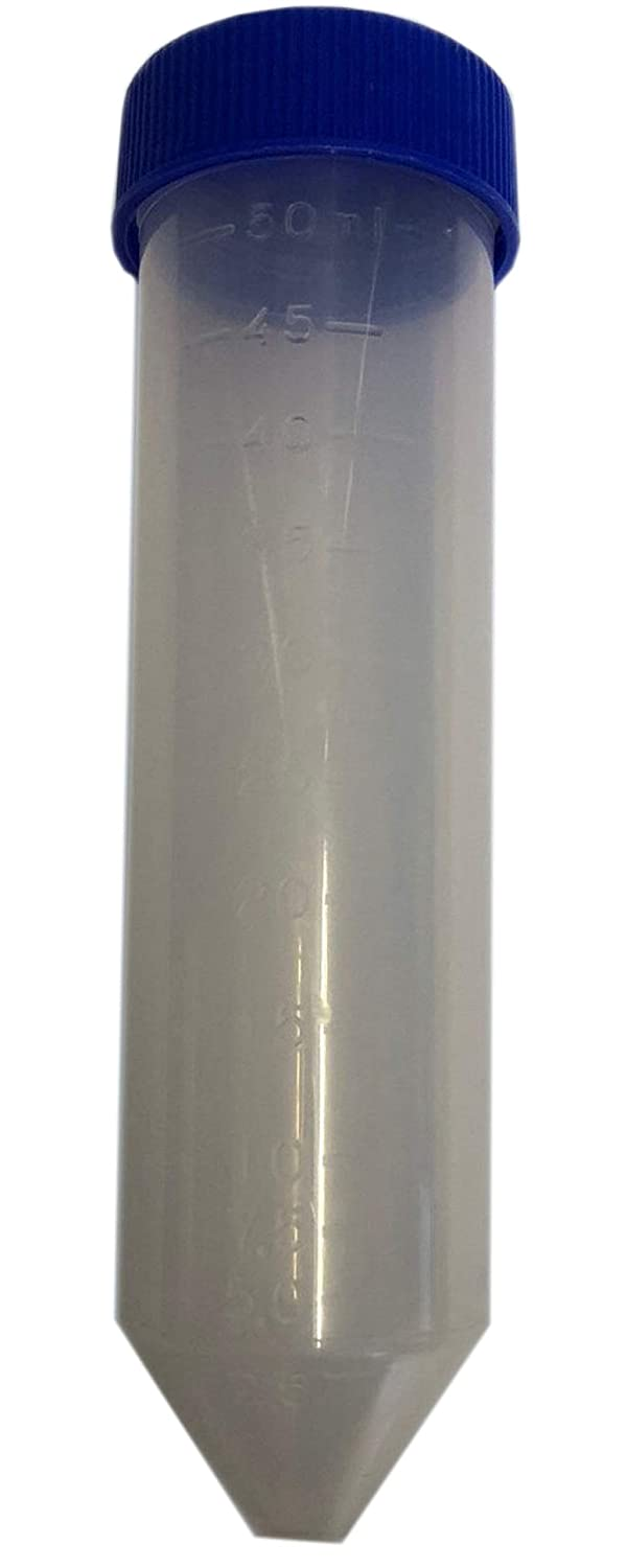 Graduated 50ml Conical Test Tubes with Screw Tops (Pack of 25) Plastic Test Tubes LTD GTT30