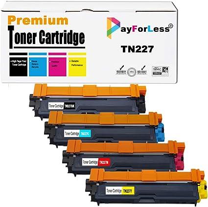 PayForLess Toner Cartridge TN227 TN-227 TN223 TN-223 Compatible for Brother HL-L3270CDW HL-L3210CW HL-L3230CDW HL-L3230CDN HL-L3290CDW MFC-L3710CW MFC-L3750CDW MFC-L3770CDW Printers