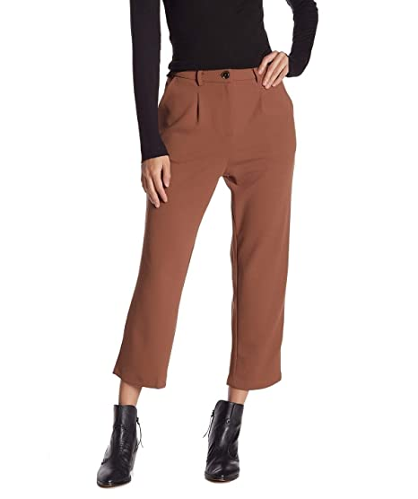 677f2888a Good Luck Gem Women's Small Cropped Stretch Dress Pants Brown S at Amazon  Women's Clothing store: