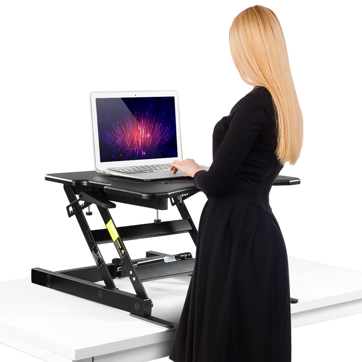 Height adjustable standing desk sit stand up Riser computure office study laptop