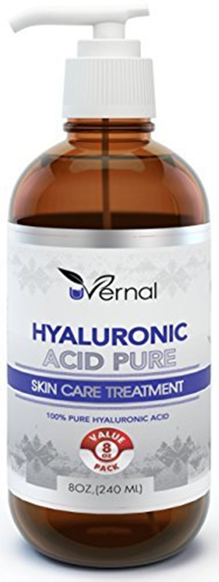 Hyaluronic Acid for Skin - 100% Pure Medical Quality Clinical Strength Formula - Anti aging formula (8 oz) by InstaSkincare