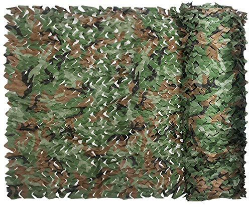 Camouflage Net Desert Woodland Jungle Summer 210D Camo Netting Durable Waterproof For CS Camping Military Hunting Sport Shooting Sun Shade Blind Watching Hide Party Decorations Woodland camo 5ft10ft