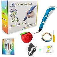 VICTORSTAR @ 3D Stylo RP-100A Pour Le Dessin 3D et Griffonner + Adaptateur + ABS Filament + Manuel en Français/Le Cadeau Idéal Pour Les Enfants