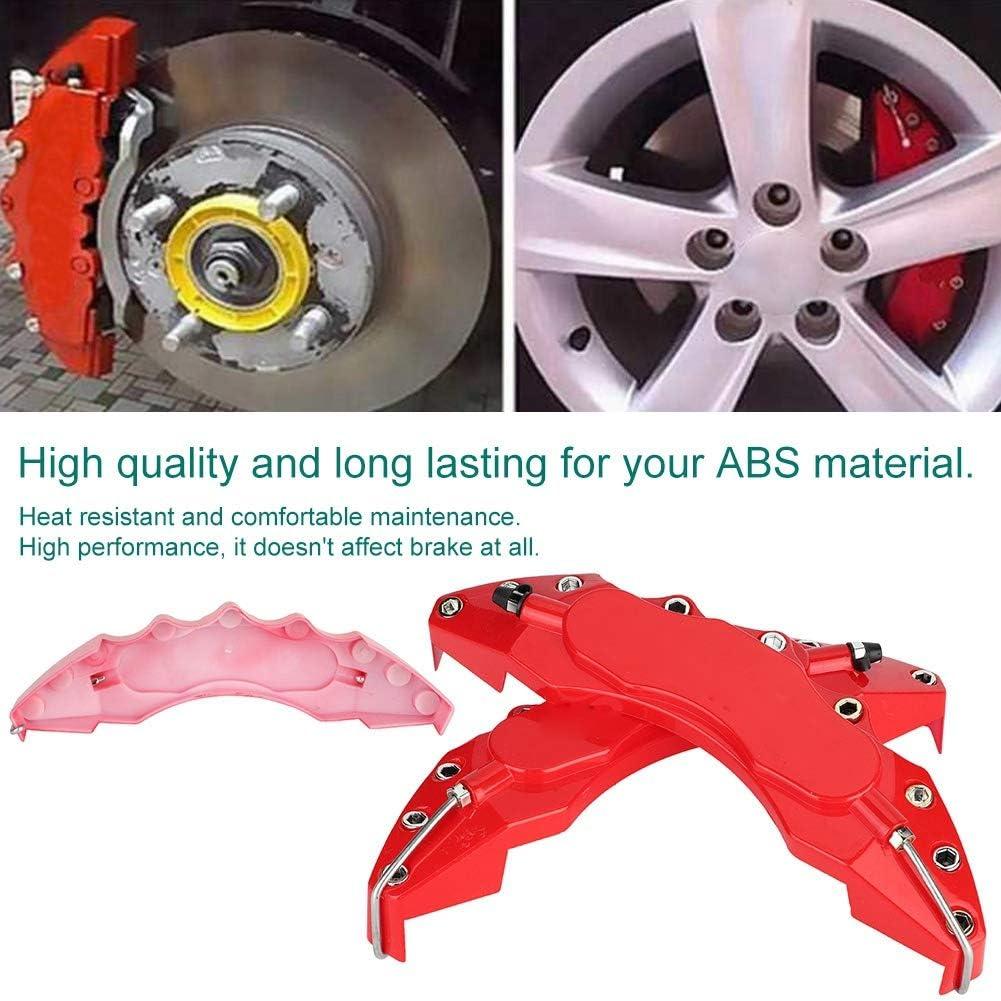 2 pezzi Abs Red Car universale Pinza freno Copertura decorativa Protezione pinza Suuonee Car Caliper Covers