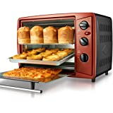 Mini oven, mini 30L oven home multi-function electric oven automatic baking multi-layer oven (Color : Red, Size : 54.7 * 42.5 * 41.5cm)