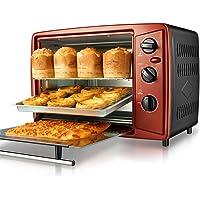 Mini oven, mini 30L oven home multi-function electric oven automatic baking multi-layer oven (Color : Red, Size : 54.7…