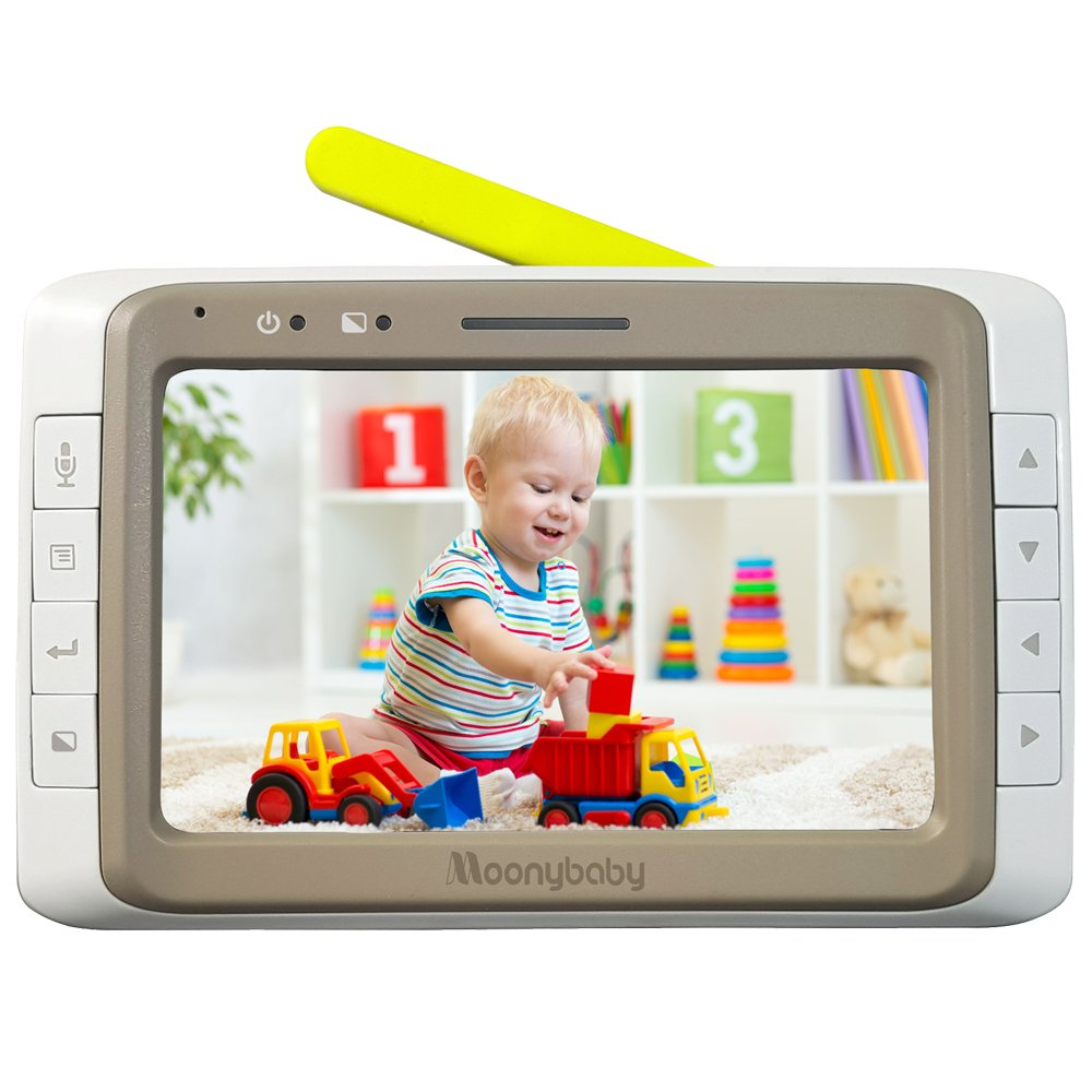 Moonybaby Replacement Monitor for MB55935BV and MB55935BV-2T. 5 Inches Split Screen Monitor Unit