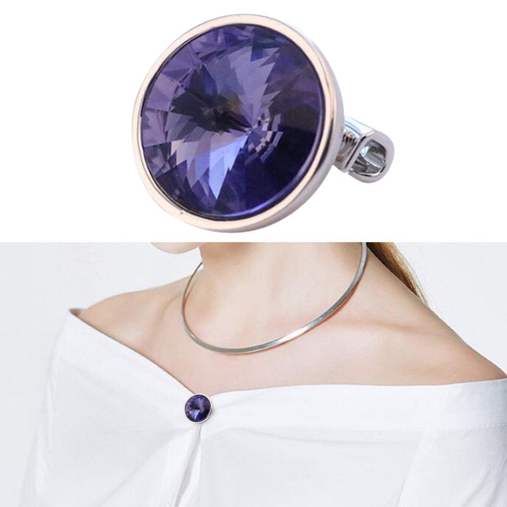 Joyci One Piece Unique Brooch Boutique Pins Cardigan Sweater Skirt Fashion Brooch Pins (Purple)