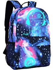 DOLIROX Anime Luminous Backpack Boys Girls Outdoor Backpack Daypack Unisex Shoulder School Bag Laptop Bag (Star Blue)