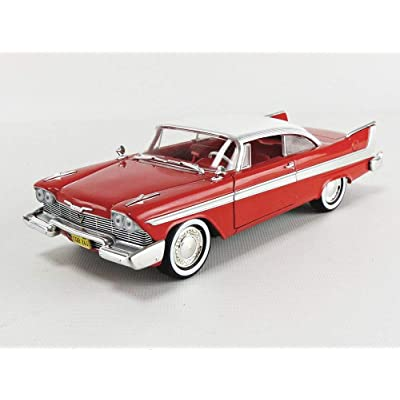 1958 Plymouth Fury Red Christine (1983) Movie 1/24 Diecast Model Car by Greenlight 84071: Toys & Games