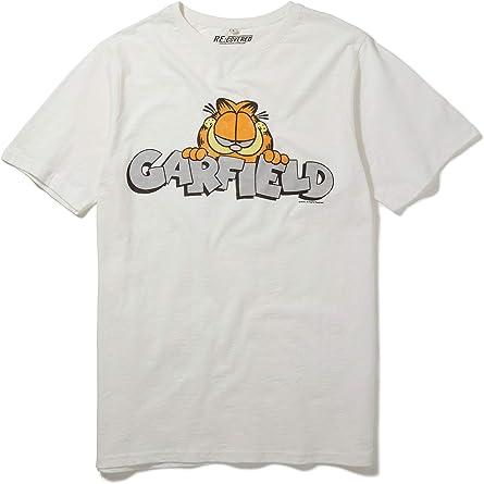 Recovered Garfield Vintage Peeking Logo White T Shirt Amazon Com