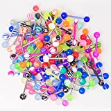 20, 50 or 100 Tongue Ring Nipple Ring Assorted Packs - Perfect for Small Shops or Individuals (20)